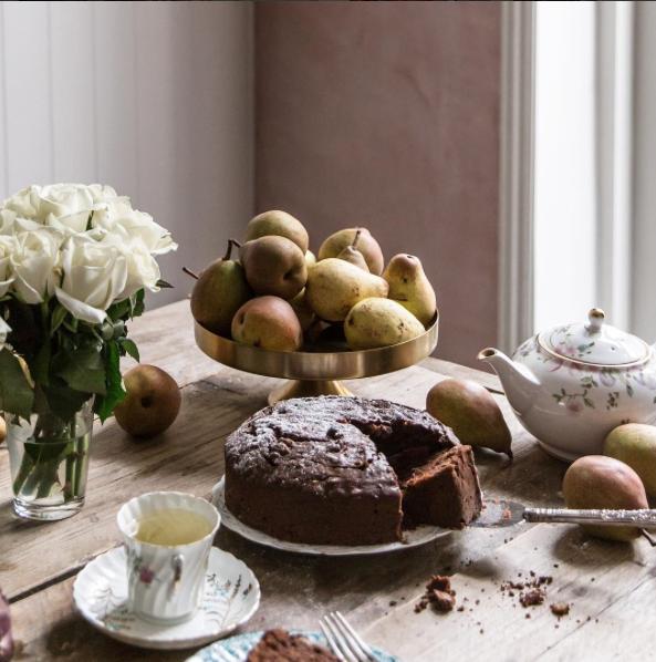 Chocolate & Walnut Olive Oil Cake