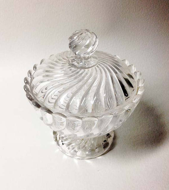 Vintage Crystal Sugar Bowl