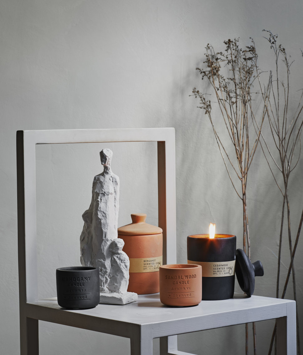 Earthy materials + fragrances... ROCK