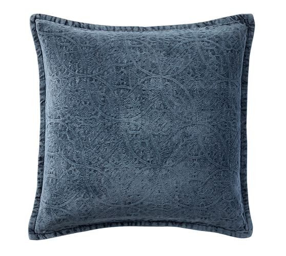 Denim Chenille Pillow