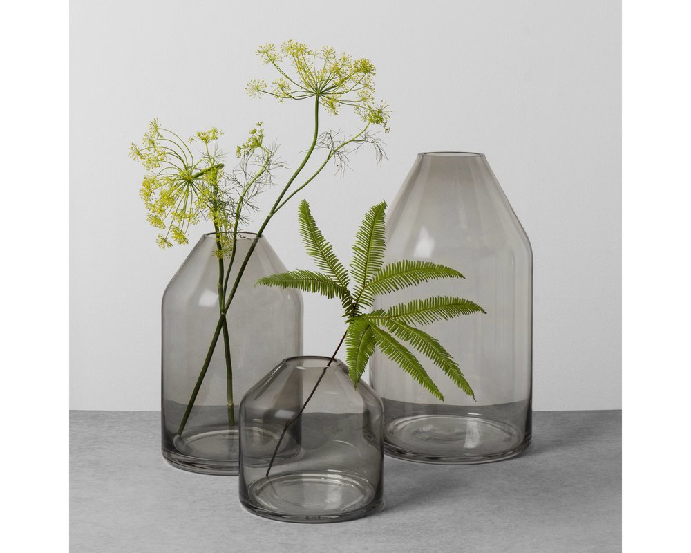 Smoke Glass Vase