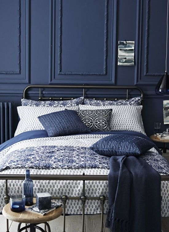Blue + White Bedding