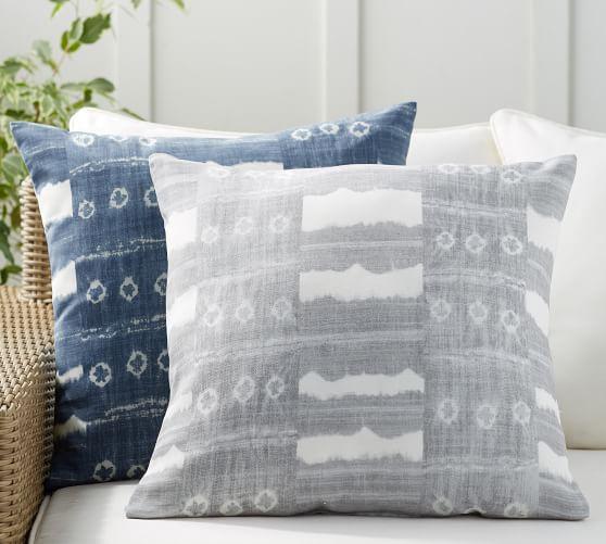 Grey Outdoor Pillow
