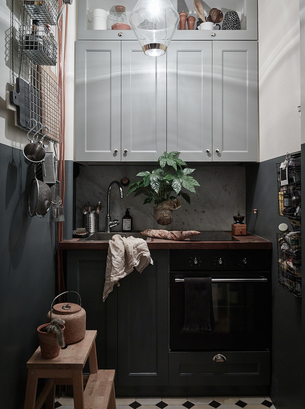 Bonus:: Metal Shelves + A Magazine Holder: Industrial & Industrious in the Kitchen
