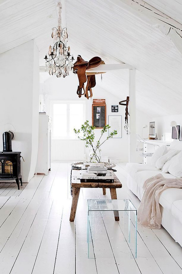 Pair Light and White with Modern & Rustic -
