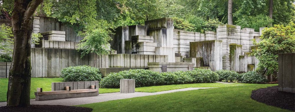 The Landscape Architecture of Lawrence Halprin - Freeway Park. Photograph © Aaron Leitz, 2016 Courtesy The Cultural Landscape Foundation