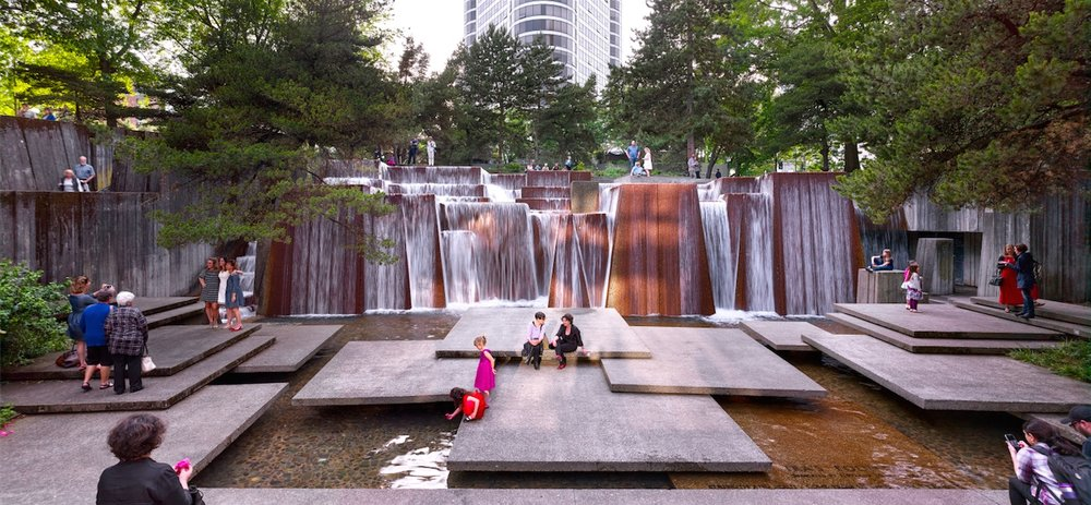 Portland Open Space Sequence, Ira Keller Fountain, Portland, OR, 2016. Photograph © Jeremy Bitterman, courtesy The Cultural Landscape Foundation