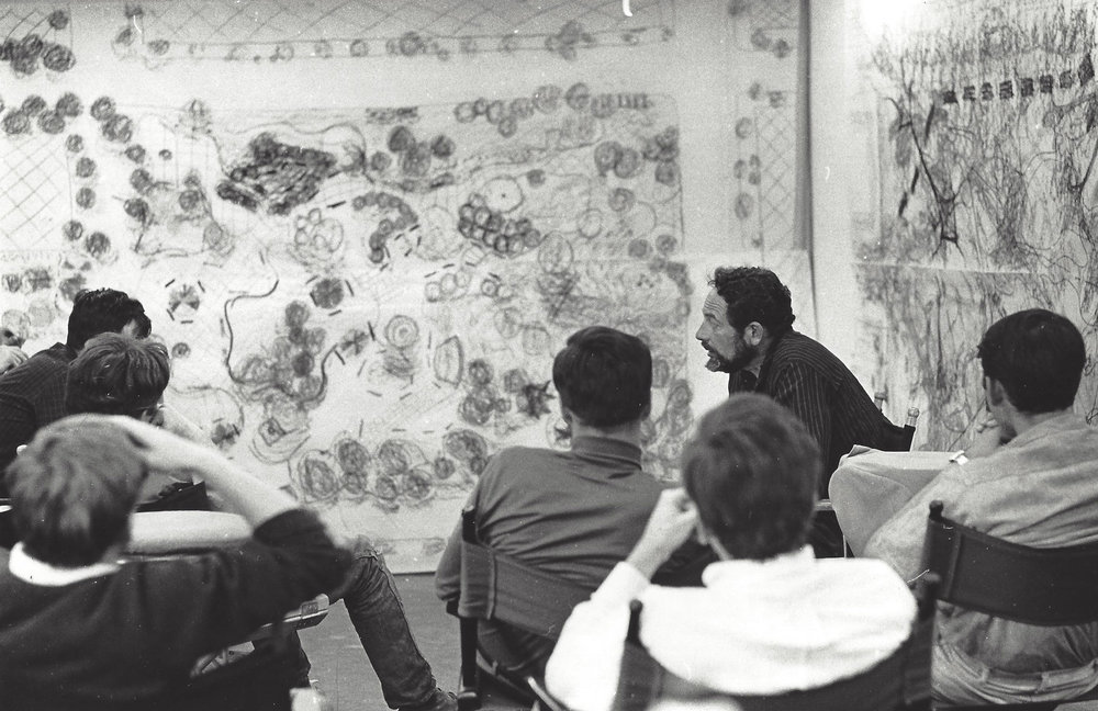 Lawrence Halprin during the 1968 Experimental Workshops, San Francisco, photograph by Paul Ryan, 1968