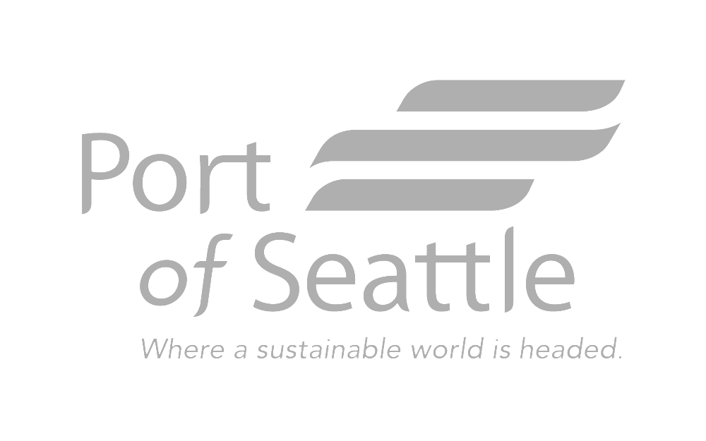 Port of Seattle Logo Grey by Graham Hnedak Brand G Creative Sampson Painting Company Client.png