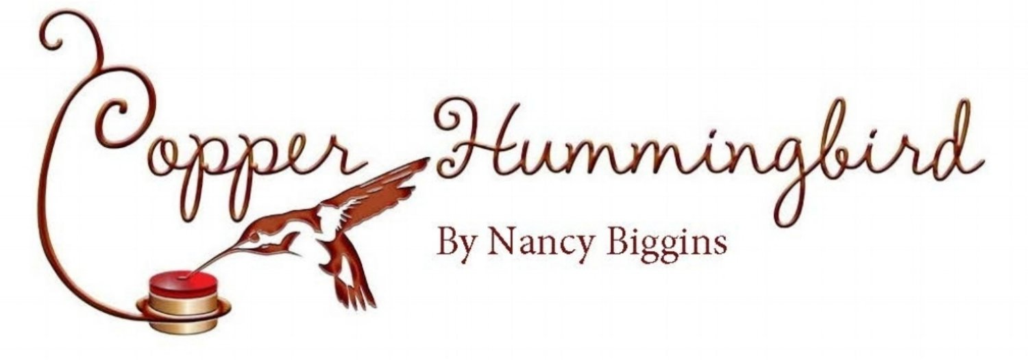 Copper Hummingbird by Nancy Biggins