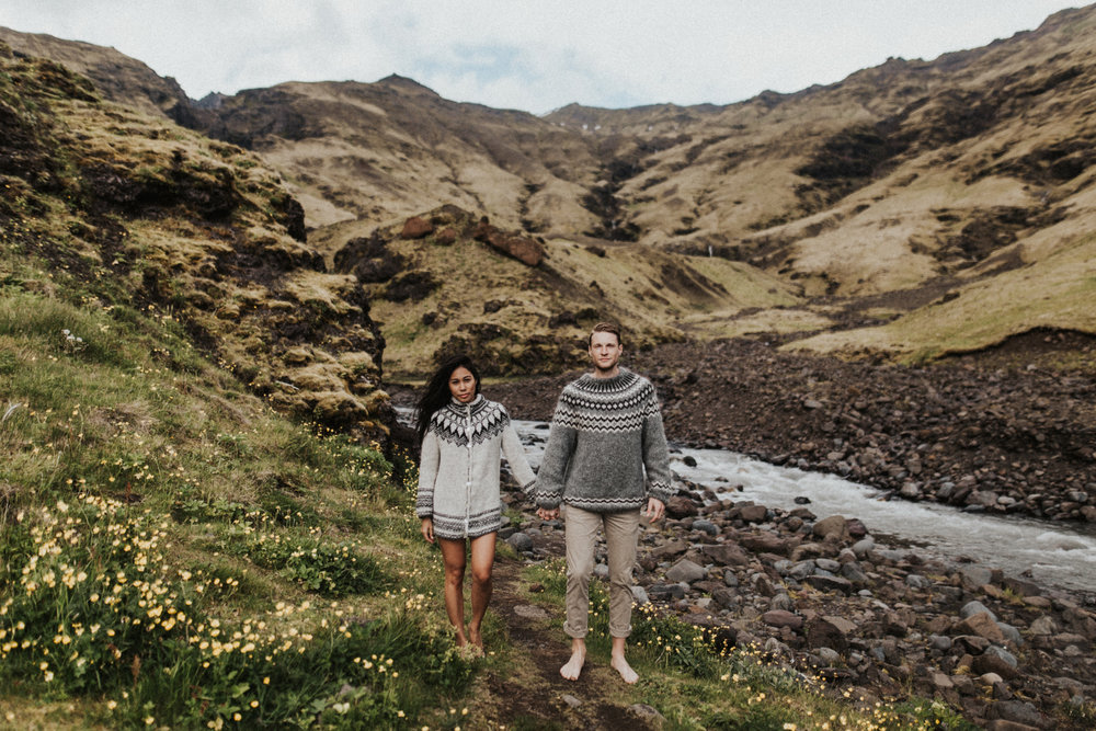 Engagement session in Iceland with barefoot couple.jpg