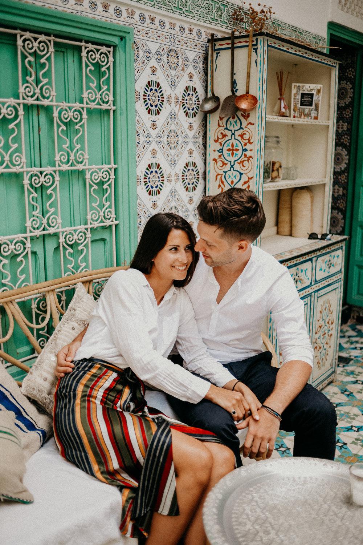 couple snuggling in marrakech riad.jpg