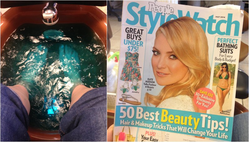 Magazine & Pedicure