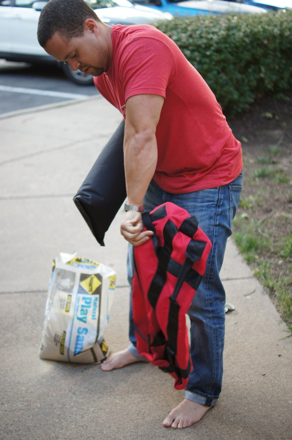 Rep Fitness How to Fill Your Sandbag Pinterest Image 3