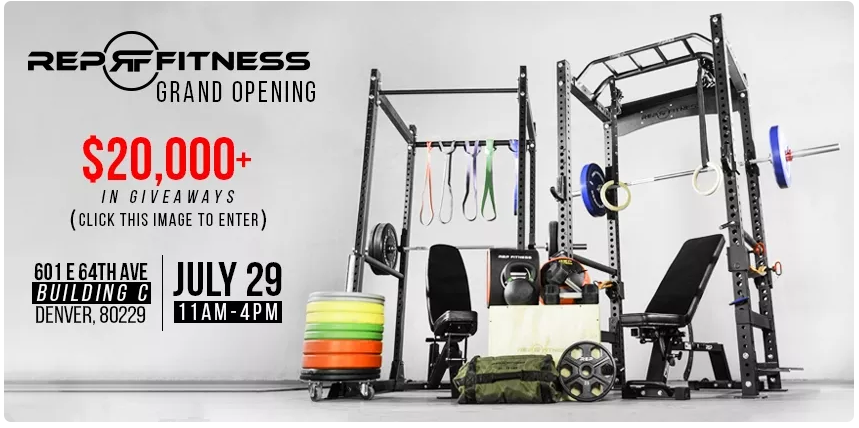 RepFitness Grand Opening Giveaways