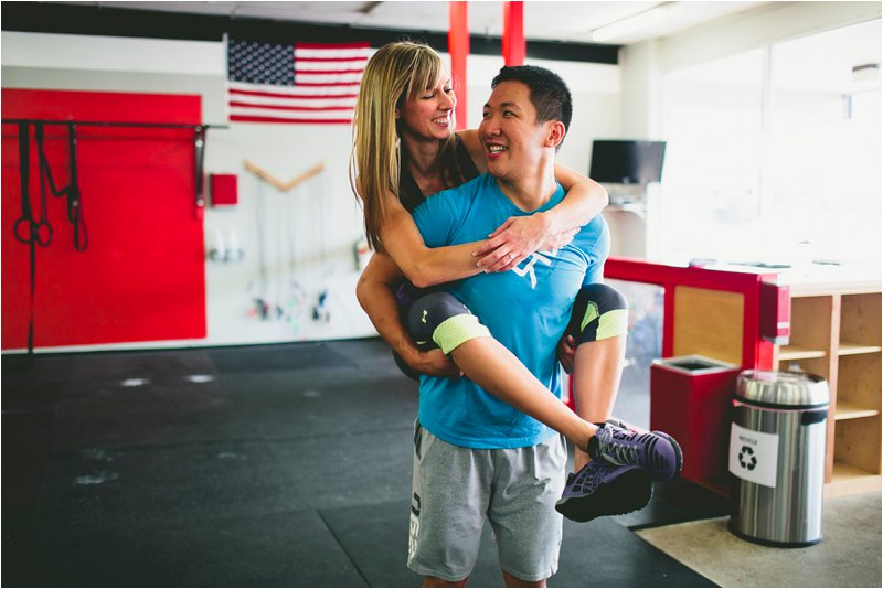 CrossFit Couple Engagement Photos