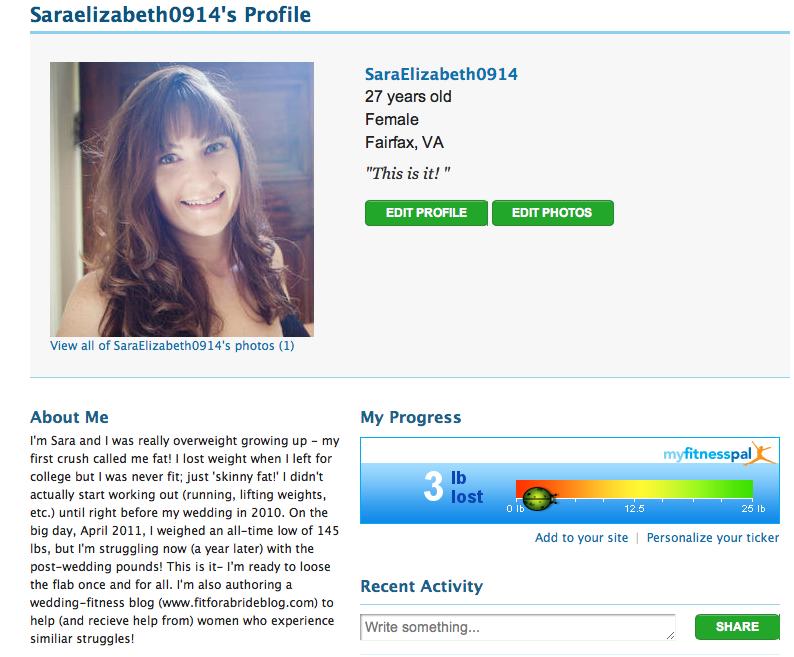 MyFitnessPal Profile