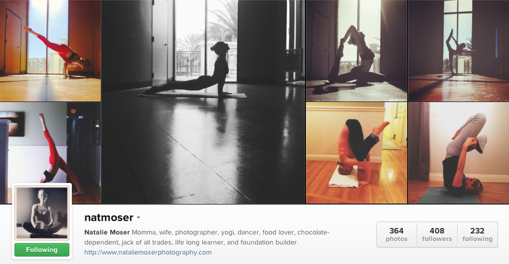 Yoga on Instagram