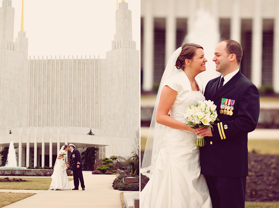 DC Mormon Temple Wedding