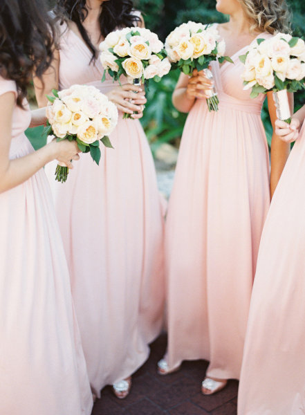 Pale Pink Bridesmaids