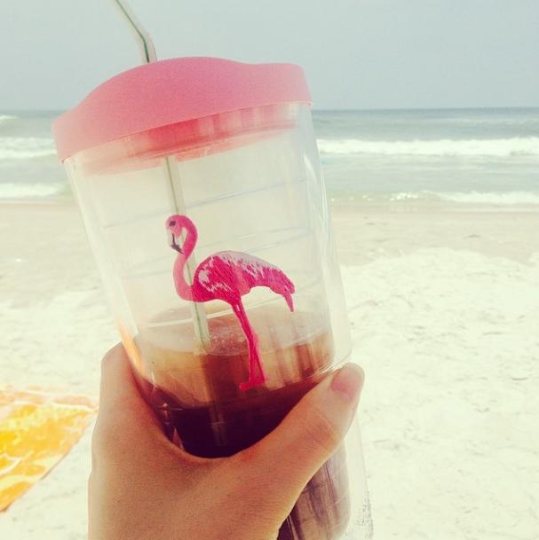 Ice Coffee at the Beach