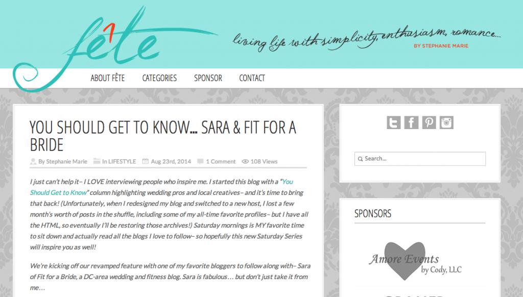 The Fête Blog