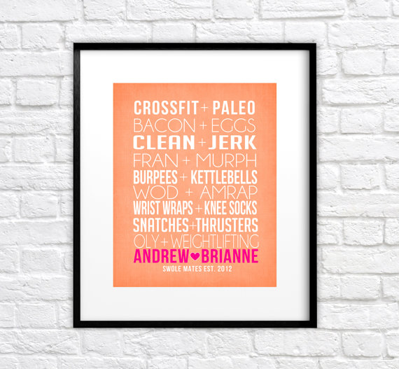 CrossFit Couple Print