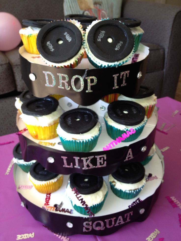 Weight Plate Cupcakes
