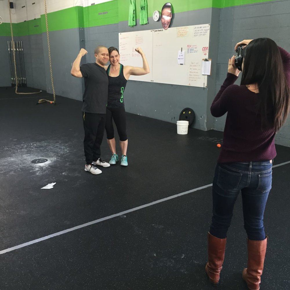 Behind-the-scenes CrossFit Photoshoot for Southern Weddings