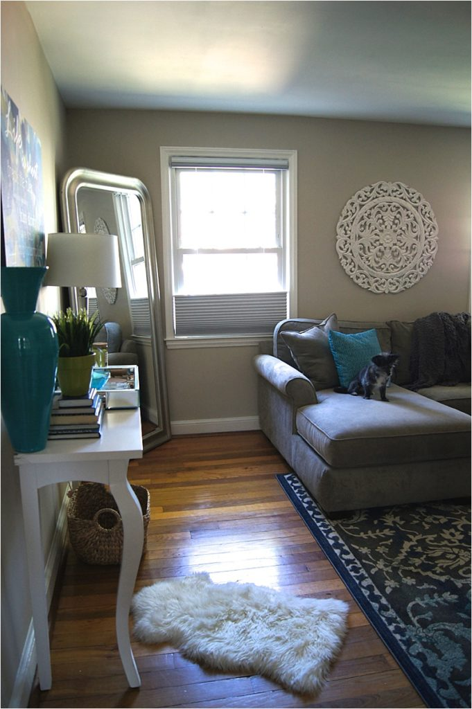 Blue and Gray Living Room