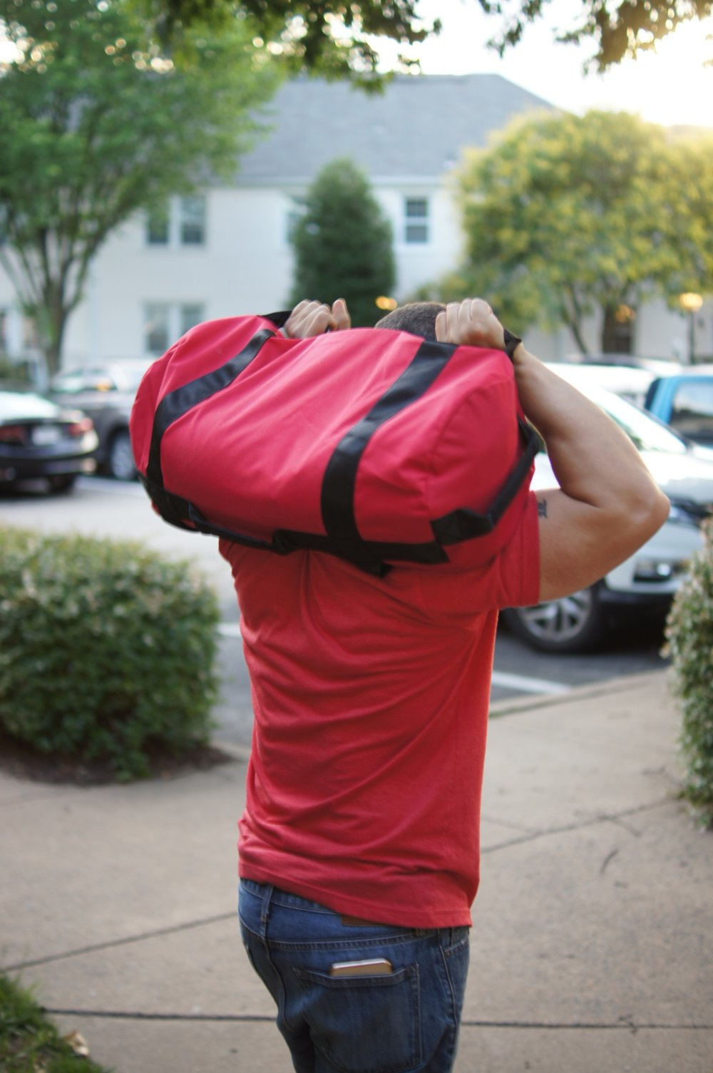 Rep Fitness How to Fill Your Sandbag Pinterest Image 1