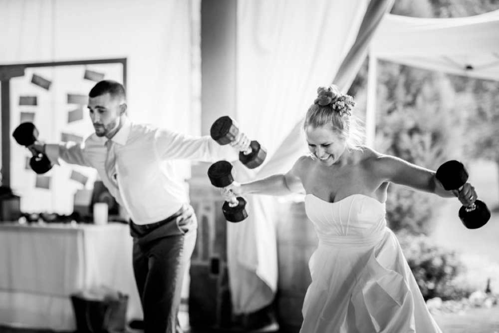 Sara & Steve - Forget the First Dance, this Couple Wanted to Workout!