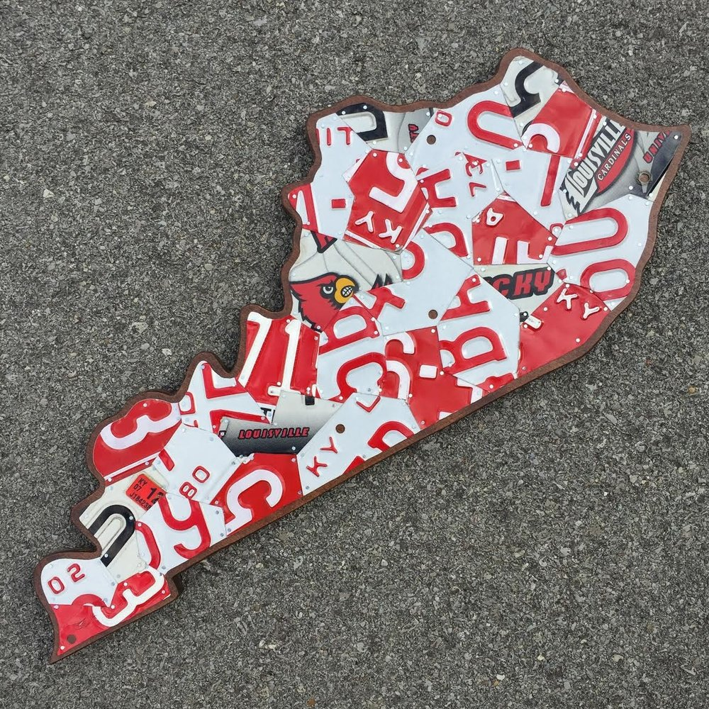 KY LARGE LOUISVILLE CARDS - SIZE: 27 x 12 in.