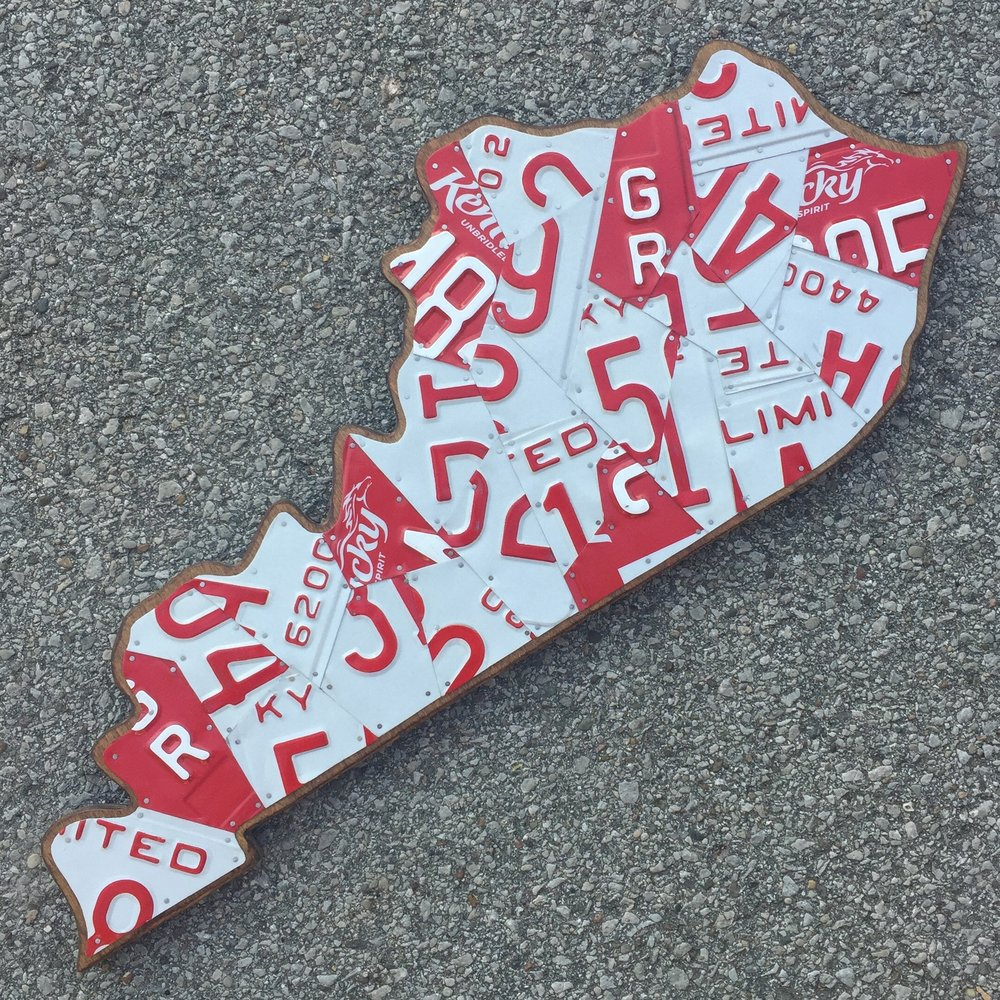 KY LARGE RED & WHITE - SIZE: 27 x 12 in.