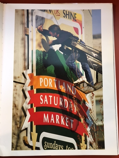 I was impressed this picture of old town Portland that I found at the library.