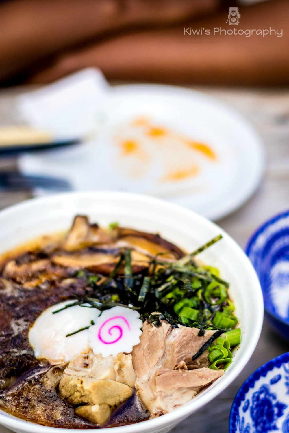 Datsun Ottawa -  Tonkotsu Ramen with Pork Loin and Shoulder, Egg, Black Garlic .