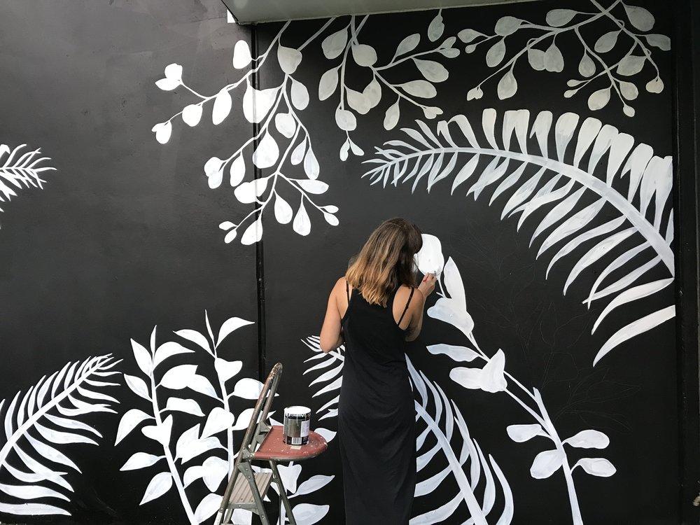 Mural Progress