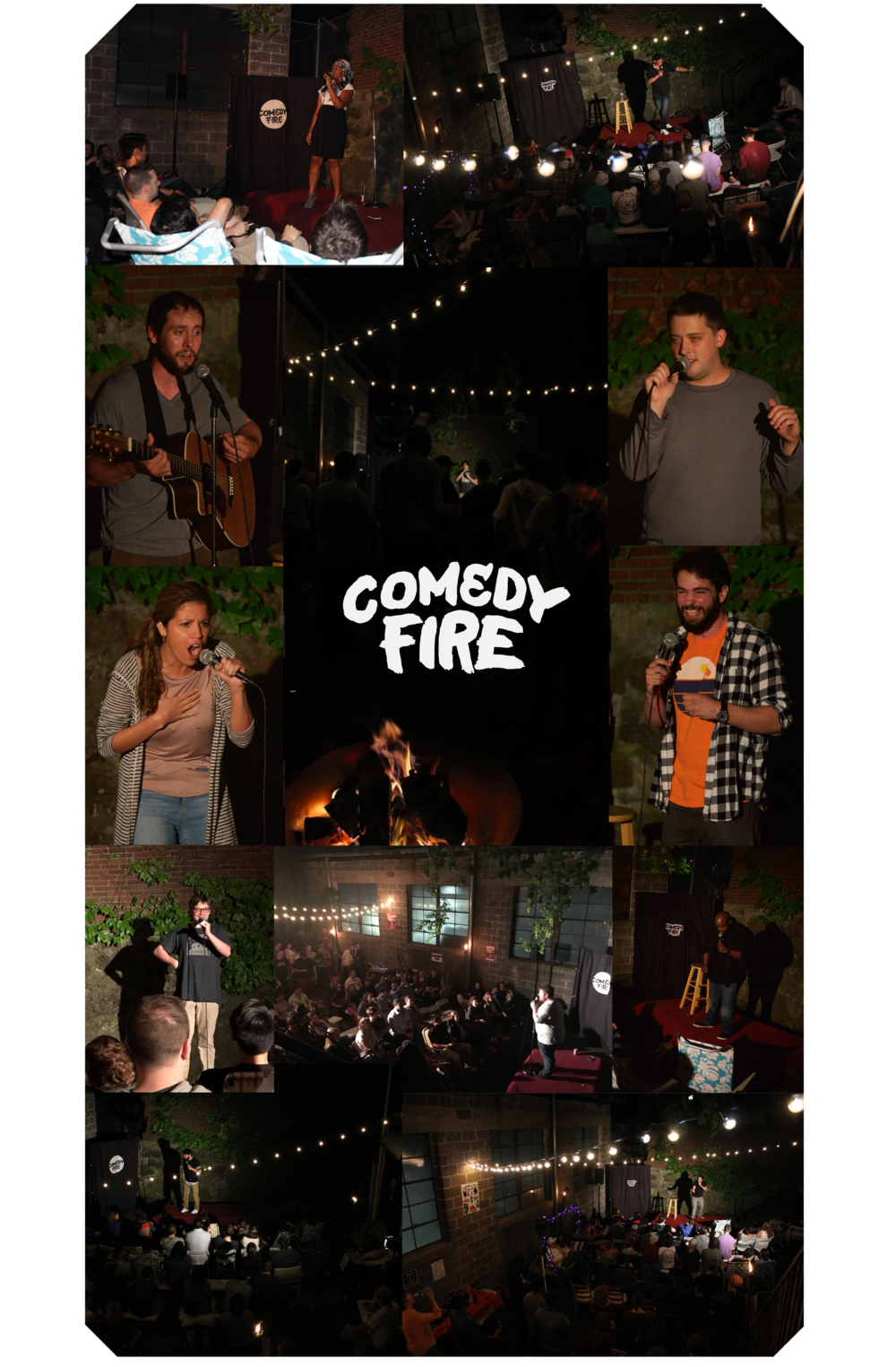 A few photos from our first and second Comedy Fire events