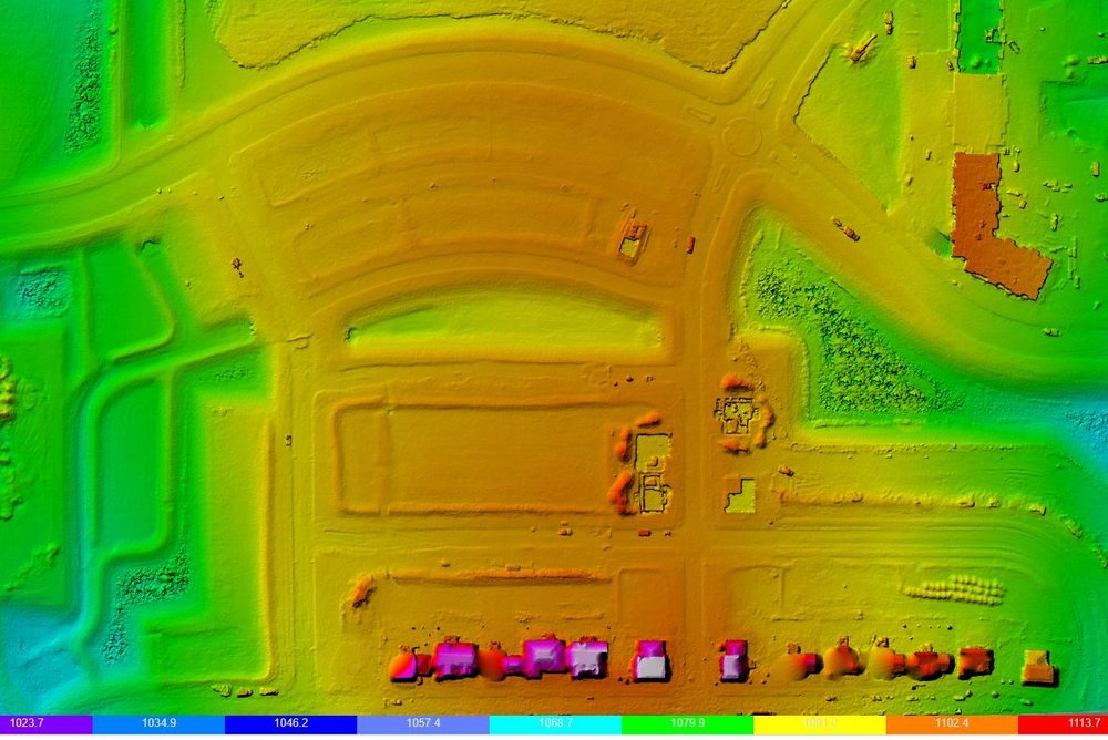 Elevation Heat Map - Easily visualize changes in elevation that exist at your jobsite