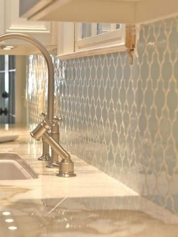 Light blue backsplash & solid surface counters –  Rachel Halvorson Design