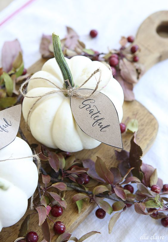 Try these free printables from  Ella Claire  for your table scape.