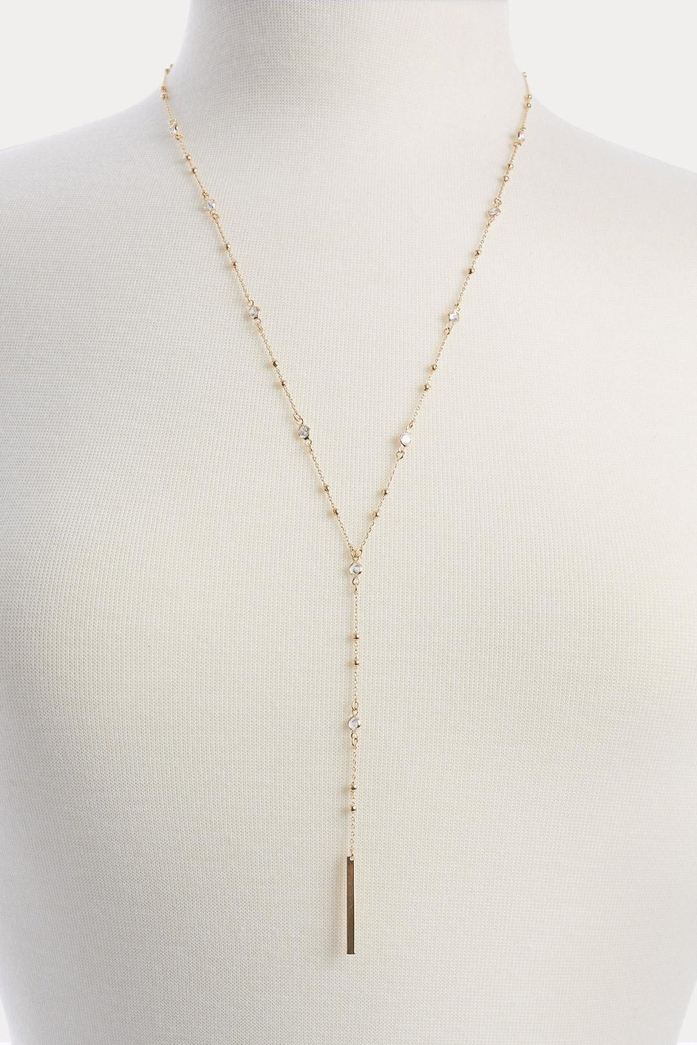 DELICATE GOLD NECKLACE WITH STONES
