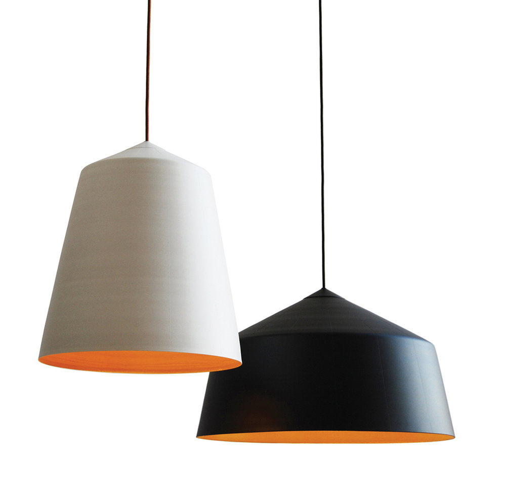 Corinna Warm  designed these black and white inspired Circus Pendants for  Innermost .
