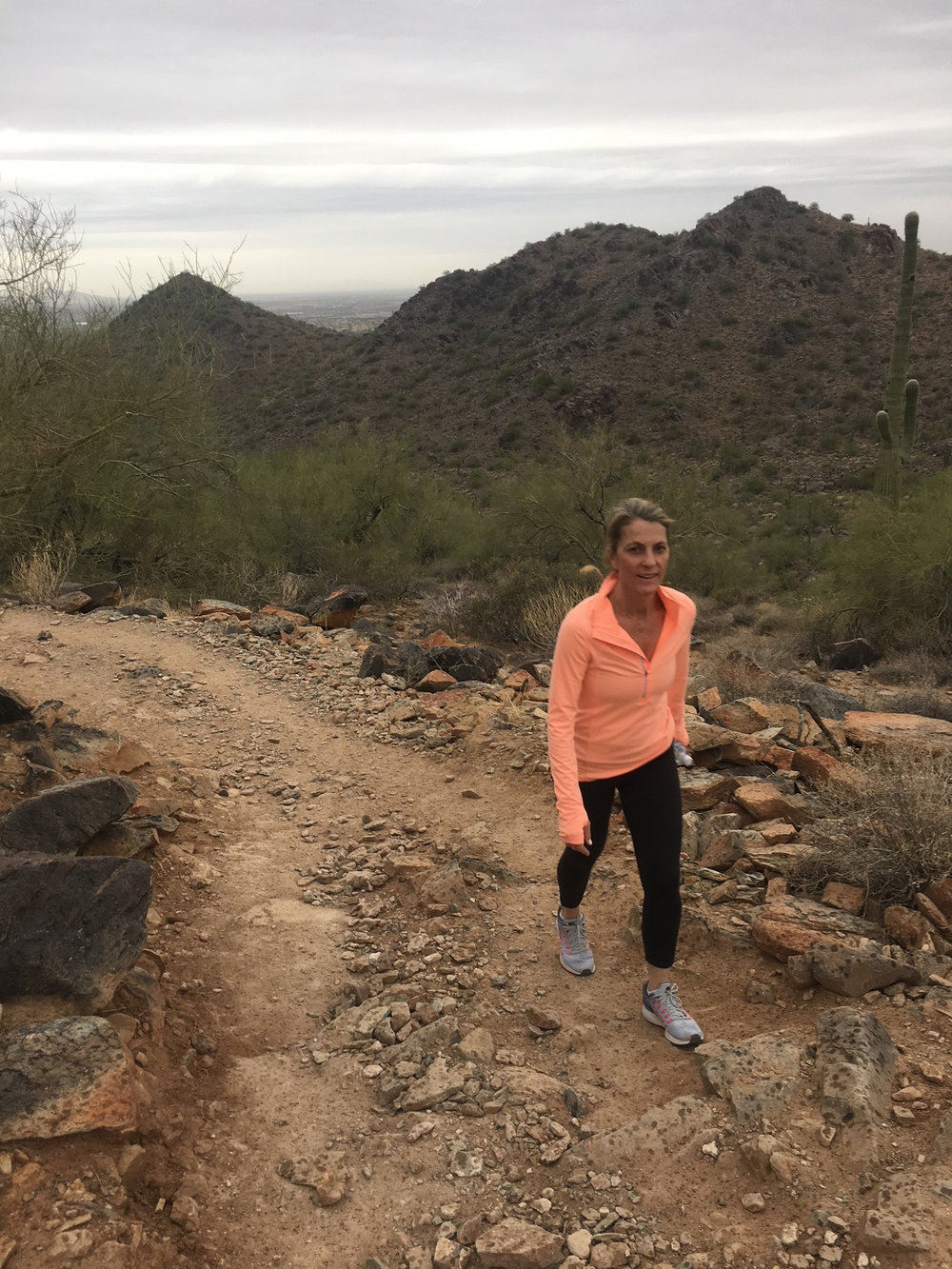 Enjoying the views and clear air at the Sonoran Preserve.