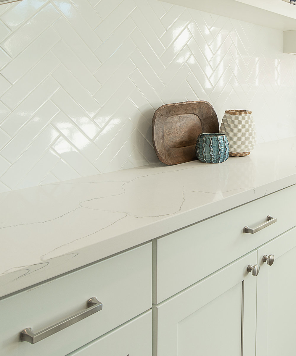 9. Countertops - Stripe White from GS Building Supply