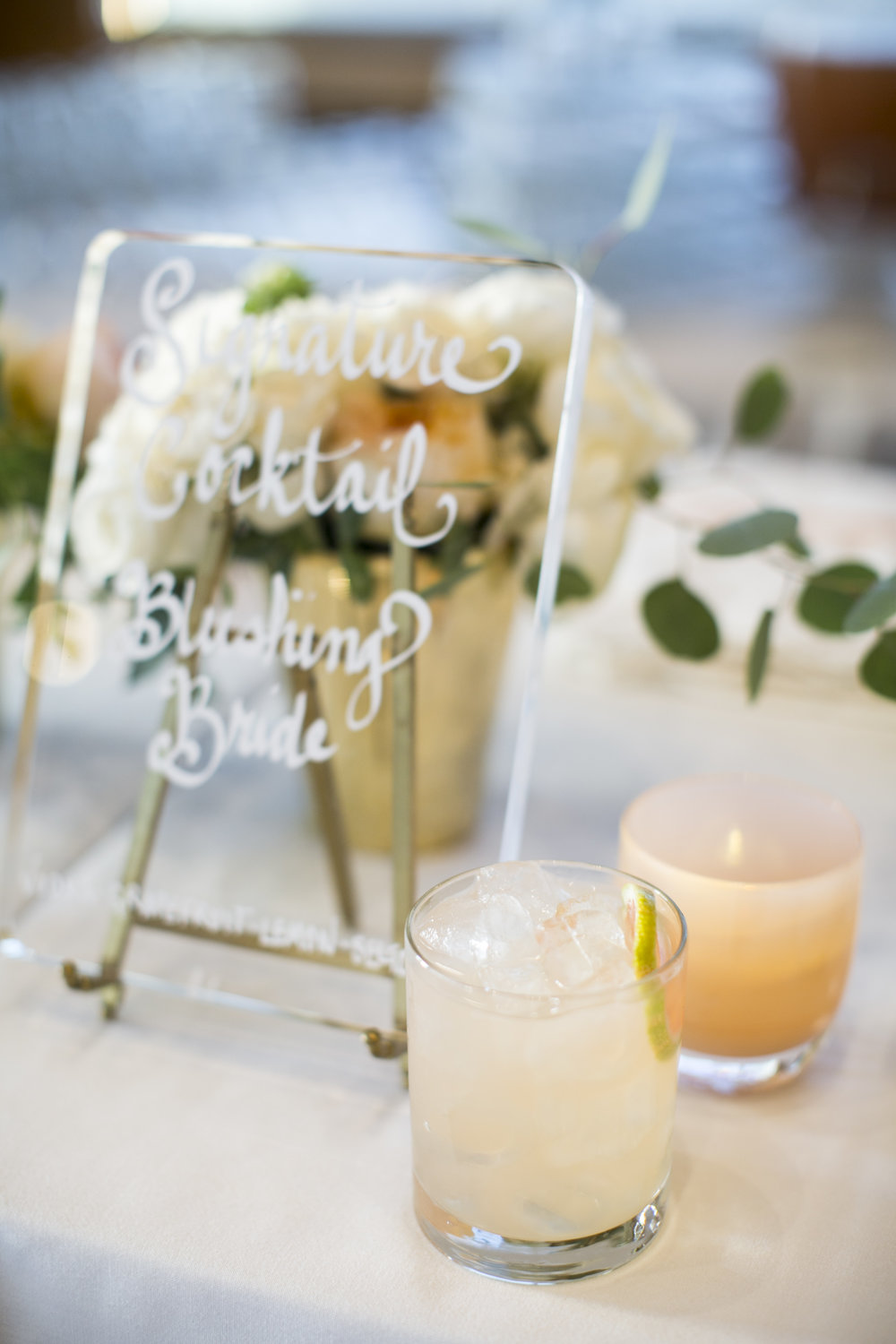 "Our signature cocktail was called, ""The Blushing Bride."""