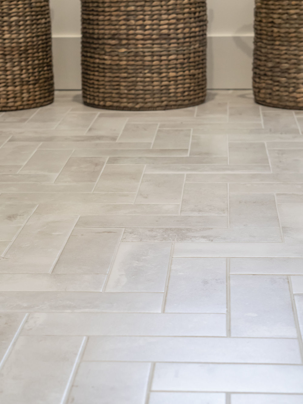 Expertly laid ceramic tiles from  Home Depot  are the key to making the affordable chic!