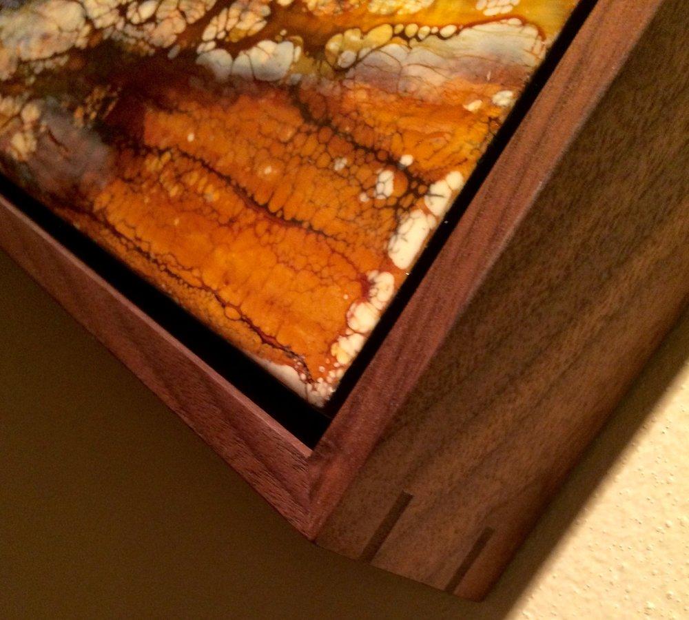 custom walnust frame spline.jpg