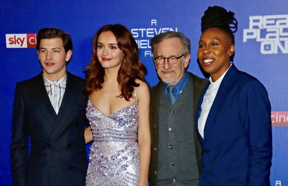 Tye Sheridan, Olivia Cooke, Steven Spielberg and Lena Waithe