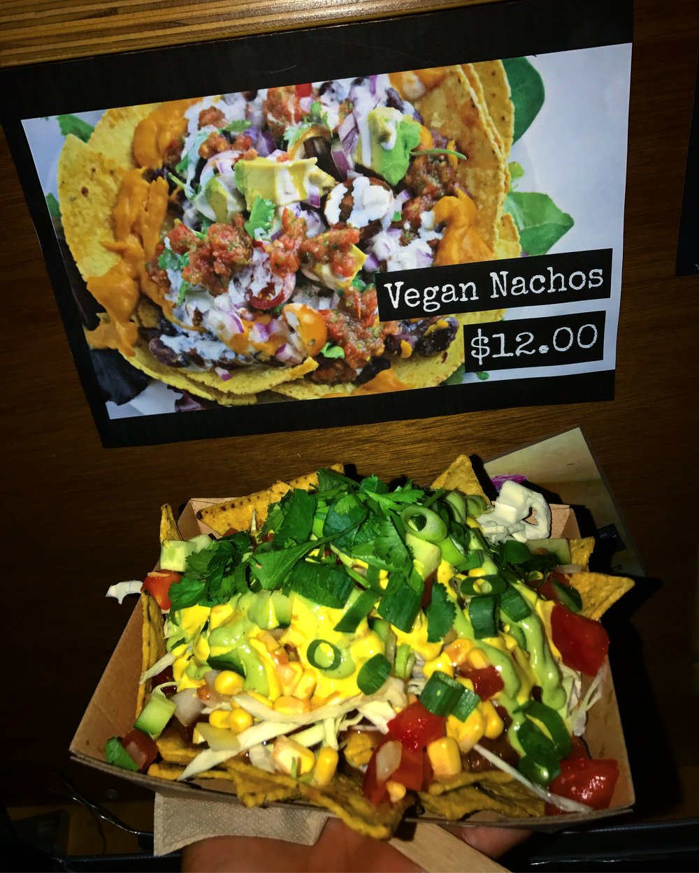 Vegan nachos I simply couldn't resist at a night market we accidentally stumbled across at Noosa.